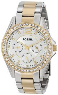 Fossil ES3204 Riley Silver and Gold Tone