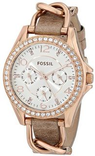 Fossil ES3466 Riley Analog Display Analog Quartz Beige
