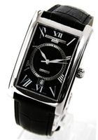 Frederique Constant Carree Automatic Black Dial Black Leather Strap 303BS4C26