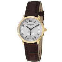 Frederique Constant FC-235AS1S5 Slim Line Dark Brown Leather Strap