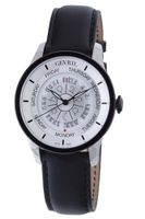 Gevril 2002 Automatic Stainless Steel Black Hand Made Leather Day Date