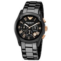Armani Black Ceramic w/ Rose Gold #1410
