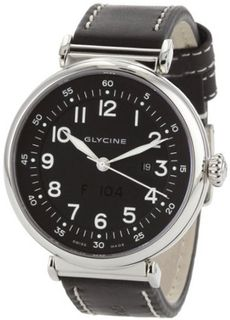 Glycine Airman F-104 Automatic Black Dial on Strap