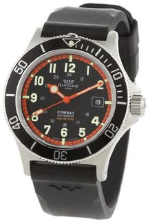 Glycine Combat Sub Automatic Black Dial on Rubber Strap