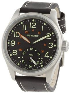 Glycine KMU 48 09 Manual Carbon Fiber Dial on Strap