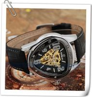 Goer Dynamic Inverted Skeleton Automatic Military Army  - Black Dial
