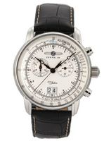 Graf Zeppelin Chronograph Big Date with 12-hr Totalizer, Mesh Bracelet 7690M-1