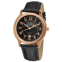 Grovana 1026.1567 Moonphase Black Moonphase Dial Rose Goldtone