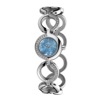 Grovana Quartz with Mother Of Pearl Dial Analogue Display and Silver Stainless Steel Plated Bracelet 4538.7135
