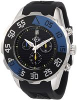 GV2 by Gevril 3001R Parachute Chronograph Rubber Date