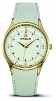 Hanowa 16-4022.02.001 Disciplin Gold IP White Leather