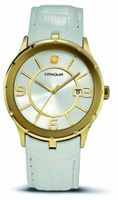 Hanowa 16-4030.02.001 Prestige Gold IP White Leather Date