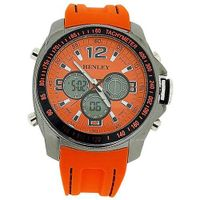 Henley Gents Ana-Dig Chronograph Backlight Orange Silicone Strap HDG016.8