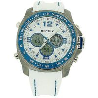 Henley Gents Ana-Dig Chronograph Backlight White Silicone Strap HDG016.6