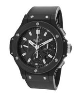Big Bang Automatic Chronograph Black Textured Dial Black Rubber