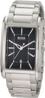 BOSS Black Large Rectangular Black Dial