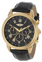 I By Invicta 90242-003 Chronograph Black Dial Black Leather