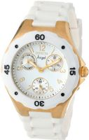 Invicta 0718 Angel Collection Gold-Plated White Polyurethane