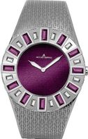 's Stainless Steel Vedette Purple Dial Swarovski Crystals
