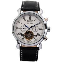 AMPM24 Elegant  Leather Automatic Mechanical White Dial Date & Day Wrist PMW017