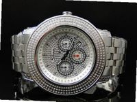 3.0 Ct Jojino Joe Rodeo Aqua Master Jojo 52 MM Real Diamond Wrist Mj-8032