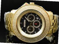 3.0 Ct Jojino Joe Rodeo Aqua Master Jojo 52 MM Real Diamond Wrist Mj-8033