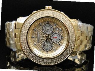 3.0 Ct Jojino Joe Rodeo Aqua Master Jojo 52 MM Real Diamond Wrist Mj-8034