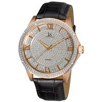 Joshua & Sons JS-19-RG Diamond Quartz Strap