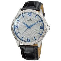 Joshua & Sons JS-19-SS Diamond Quartz Strap