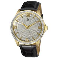 Joshua & Sons JS-19-YG Diamond Quartz Strap