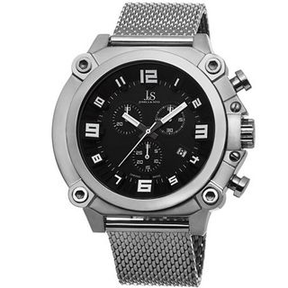 Joshua & Sons JS58SSB Analog Display Swiss Quartz Silver