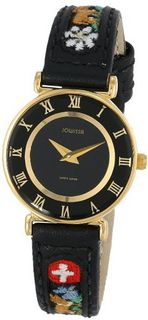 Jowissa J2.037.S Roma Ethno Gold PVD Stainless-Steel Black Slim