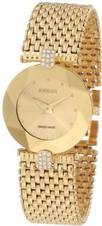 Jowissa J5.010.M Facet Strass Gold PVD Dimensional Glass Rhinestones