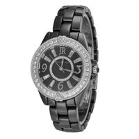Judith Ripka - Steel & Ceramic - Black Ceramic - Swiss Part Mvt - L-size