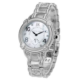 Judith Ripka - Sterling and Stainless Steel Sub-dial Bracelet - Japan Mvt - M-size