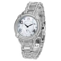 Judith Ripka - Sterling and Stainless Steel Sub-dial Bracelet - Swiss Part Mvt - S-size