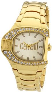 Just Cavalli R7253160501 Logo Yellow Gold Ion-Plated Coated Stainless Steel Swarovski Crystal