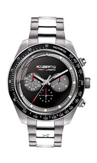 K&BROS 9481-4 Steel Man Colored Dial Chrono