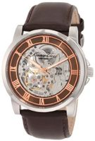 Kenneth Cole New York KC1745 Stainless Steel and Brown Leather Automatic