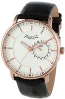 Kenneth Cole New York KC1780 Classic Silver Analog Dial Rose Gold Case