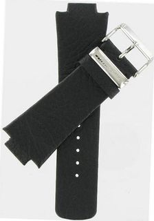 30/16mm Genuine Grained Leather Black band