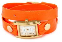 La Mer Collections LAMERNEON_2GOLDSQ Neon Orange/Gold Square Simple