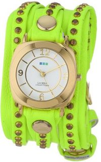 La Mer Collections LMSWODY1001 Neon Yellow Gold Odyssey Bali Wrap