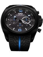 LAPIZTA Addax 48mm Chronograph Racing - Carbon Fiber Dial w/Blue Accents L20.1004