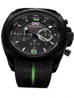 LAPIZTA Addax 48mm Chronograph Racing - Carbon Fiber Dial w/Green Accents L20.1003