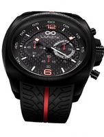 LAPIZTA Addax 48mm Chronograph Racing - Carbon Fiber Dial w/Red Accents L20.1001