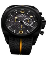 LAPIZTA Addax 48mm Chronograph Racing - Carbon Fiber Dial w/Yellow Accents L20.1002