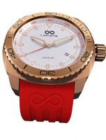 LAPIZTA Amur Ladies Sport - Rose Gold Case, Red Accents, White Dial L26.2104