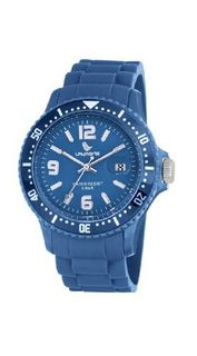 Laurens GW41B928Y Colored Rubber Blue Rubber Rotating Bezel Date