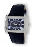 Le Chateau 14006M_BLK Leather Extravagant Collection Textured Dial